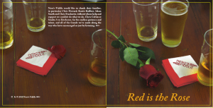 red is the rose, cover